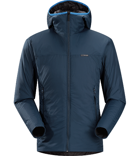 Aphix Hoody Men's Lightweight insulated hooded jacket that stands alone or works as a mid layer.