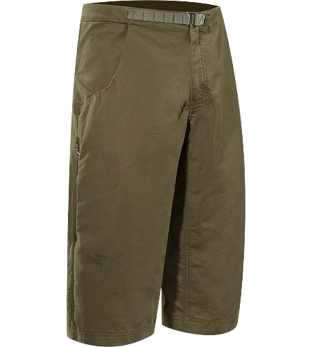 Aristo Long Men's Langlebige, strapazierfhige Shorts in Wadenlnge aus Baumwolle/Nylon-Canvas mit integriertem, verstellbarem Grtel.