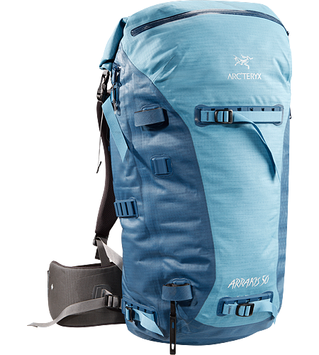 Arrakis 50 Weather resistant and seam-sealed, durable backpack, ideal for skiing, cragging and hiking.