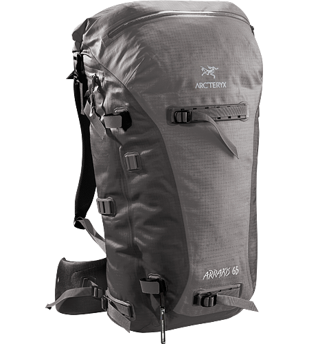 Arrakis 65 Weather resistant and seam-sealed, durable backpack, ideal for skiing, cragging and hiking.