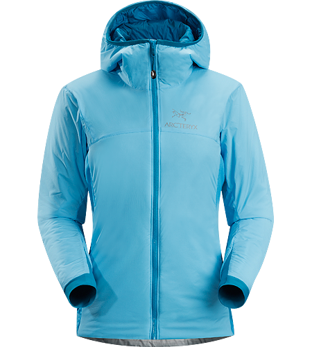 Atom LT Hoody Women's Lightweight, breathable, insulated hoody; Ideal as a stand-alone piece in fair weather, or as a layering piece in cold conditions