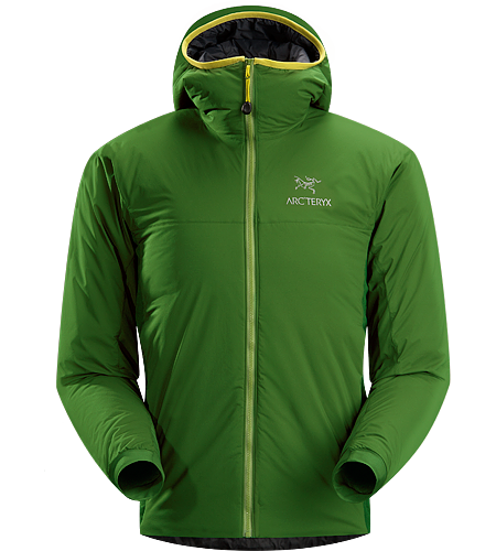 Atom LT Hoody Men's Insulated, mid-layer hoody with wind and moisture resistant outer shell; Ideal as a layering piece for cold weather activities.