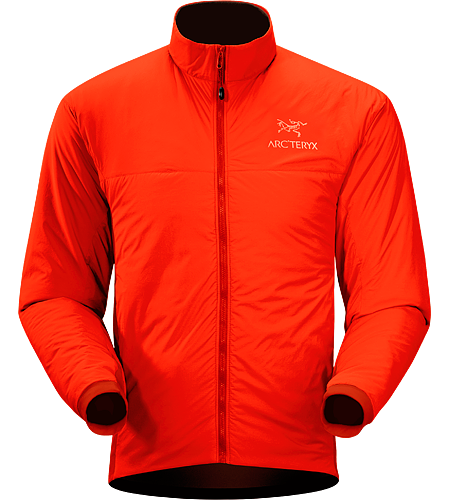 Atom LT Jacket Men's Insulated, mid-layer jacket with wind and moisture resistant outer face fabric; Ideal as a layering piece for cold weather activities.