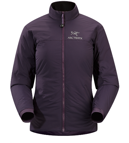 Atom LT Jacket Women's Insulated, mid-layer jacket with wind and moisture resistant outer face fabric; Ideal as a layering piece for cold weather activities.