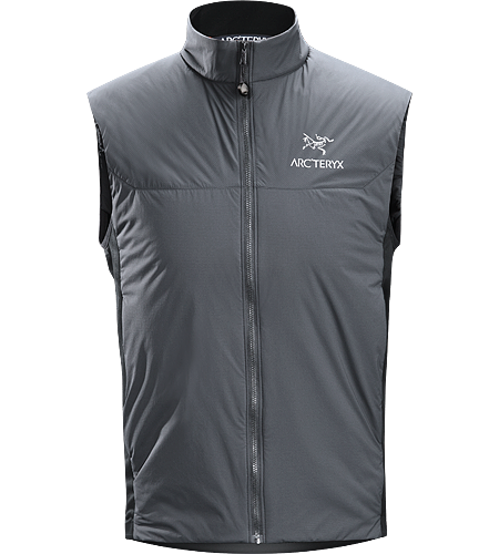 Atom LT Vest Men's Lightweight, insulated Coreloft™ vest, designed to preserve core warmth; Ideal as a layering piece for cold weather activities.