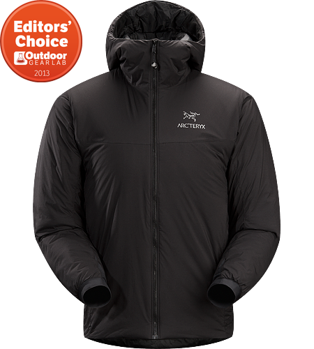 Atom SV Hoody Men's Warm insulated Coreloft™ jacket with an insulated hood; Ideal for use as a super-warm mid-layer in cold conditions, or as a stand-alone piece in warmer conditions.