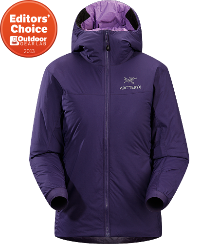 Atom SV Hoody Women's Warm insulated Coreloft jacket with an insulated hood; Ideal for use as a super-warm mid-layer in cold conditions, or as a stand-alone piece in warmer conditions.