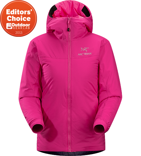 Atom SV Hoody Women's Warm insulated Coreloft™ jacket with an insulated hood; Ideal for use as a super-warm mid-layer in cold conditions, or as a stand-alone piece in warmer conditions.