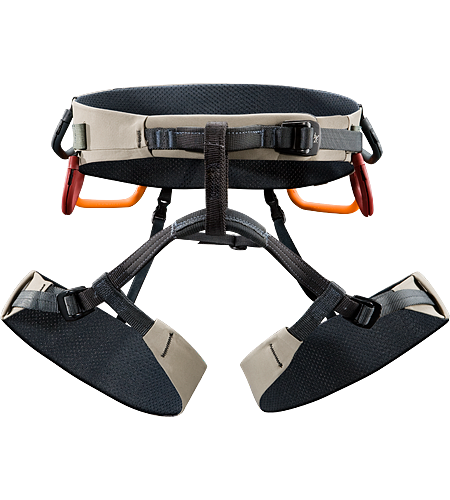 B360a Men's Comfortable, big wall climbing harness constructed using Warp Strength Technology in the extra wide swami and leg loops for all-day comfort during big wall climbing epics.