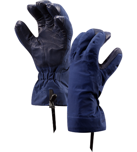 Beta AR Glove Men's Anatomically designed, waterproof gloves with fleece liner and easy-pull wrist cinch system. Ideal for all around alpine adventures