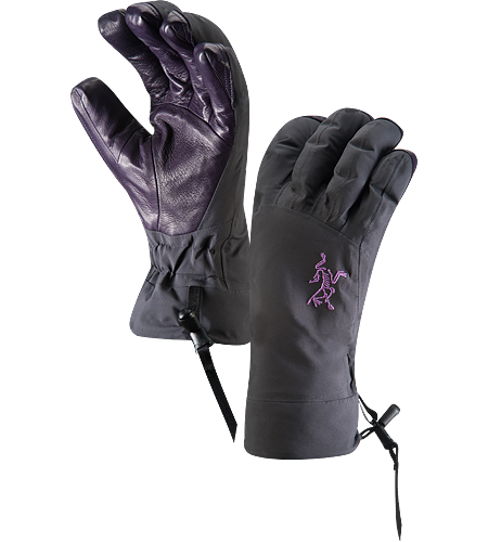 Beta AR Glove Women's Anatomically designed, waterproof gloves with fleece liner and easy-pull wrist cinch system. Ideal for all around alpine adventures