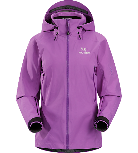 Beta AR Jacket Women's Women-specific, lightweight & packable, waterproof GORE-TEX® jacket; Hip length with a helmet compatible Drop Hood™