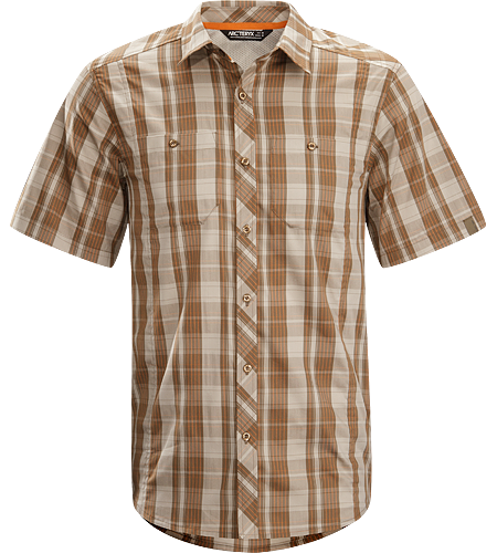 Borderline Shirt SS Men's Lightweight, breathable short sleeved shirt designed with technical features and casual styling for urban adventures