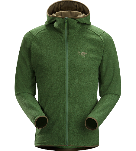 Caliber Hoody Men's Relaxed fit fleece with casual styling, featuring a lined hood and zippered hand pockets and constructed using a soft-to-the-touch Polartec micro-fleece textile