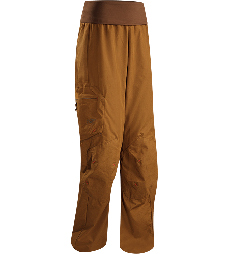 Calyx Pant Women's Lightweight, durable cotton/nylon canvas pant with a stretch-knit foldover waistband that rolls up to fit comfortably under a climbing harness