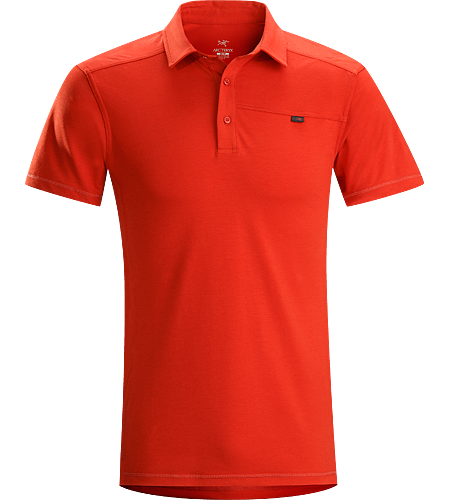 Captive Polo SS Men's Trim-fitting, short-sleeved polo shirt made from lightweight, moisture-wicking Cotton/Synthetic blend textile with Lycra. Ideal for urban use or for more rugged pursuits.