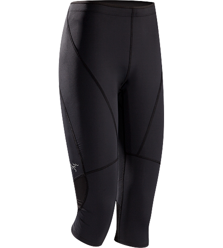 Cita 3/4 Tight Women's 3/4 length, compression fit, running tight constructed with breathable mesh panels to vent perspiration.