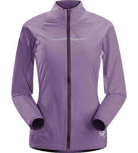 Cita Jacket Women's Lightweight, water-resistant running jacket with mesh underarm panels to vent perspiration