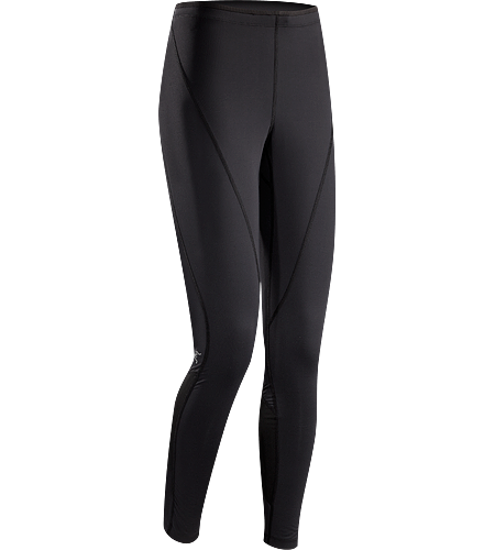 Cita Tight Women's Full-length, articulated running tight constructed with mesh compression panels on the calves for added support and a small zippered lumbar pocket with media port that is ideal for small items such as keys, ID or media device.