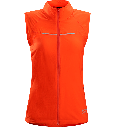 Cita Vest Women's Ultra-lightweight vest for chilly days, featuring weather resistant Luminara™ nylon in the front and a highly breathable mesh back.