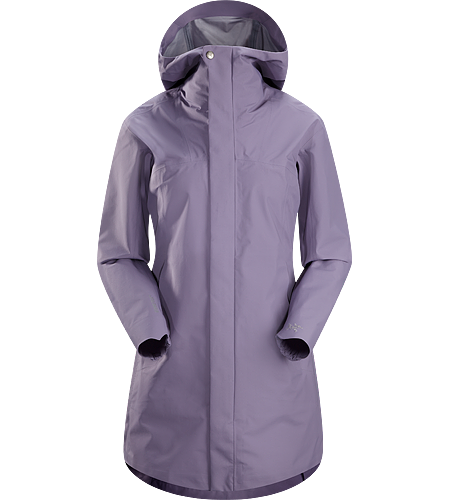 Codetta Coat Women's Waterproof, three-quarter length GORE-TEX® rain jacket with hood