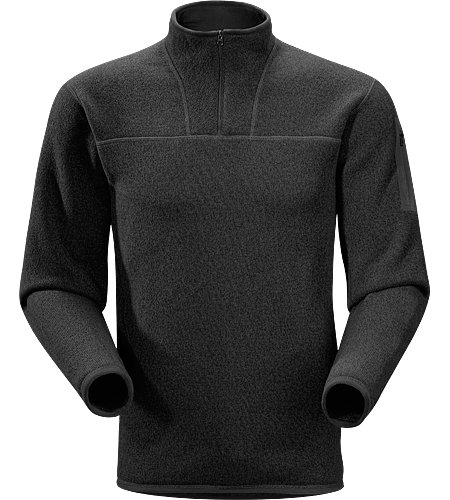 Covert Zip Neck Men's Breathable fleece sweater with a casual design; Ideal for layering or as a stand alone piece.