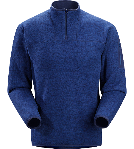 Covert Zip Neck Men's Luftiger Fleece-Pulli in lässigem Look - ideal als zweite Lage oder solo