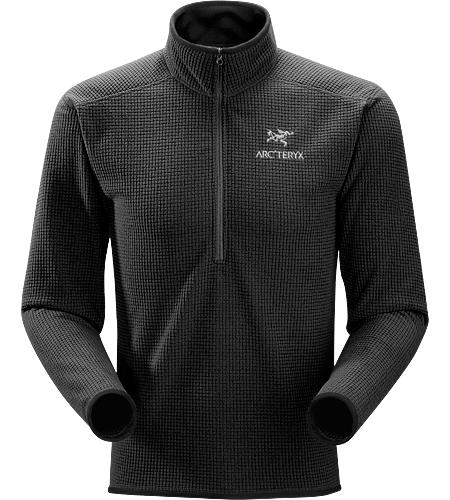 Delta AR Zip Neck Men's Breathable, insulated, high-loft fleece jersey; Ideal as a layering piece