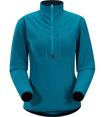 Delta AR Zip Neck Women's Breathable, insulated, high-loft fleece jersey; Ideal as a layering piece.
