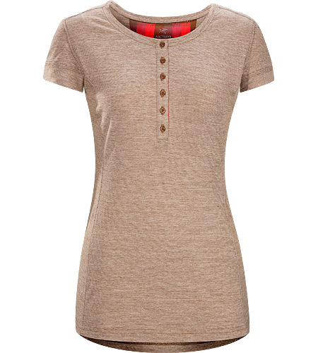 Emissary SS Women's Premium quality, short sleeve Henley shirt made of Laincast wool blend textile; Ideal for multi-day, multi purpose use.