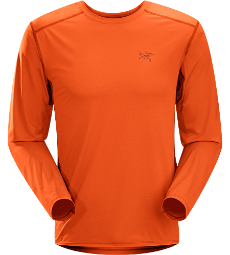 Ether Crew LS Men's Robustes, leichtes und feuchtigkeitsregulierendes Langarm-Shirt mit Achseleinstzen aus Netzgewebe zur besseren Belftung.