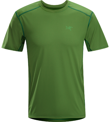 Ether Crew SS Men's Durable, lightweight, moisture-wicking short-sleeved shirt with mesh underarm panels to aid venting.