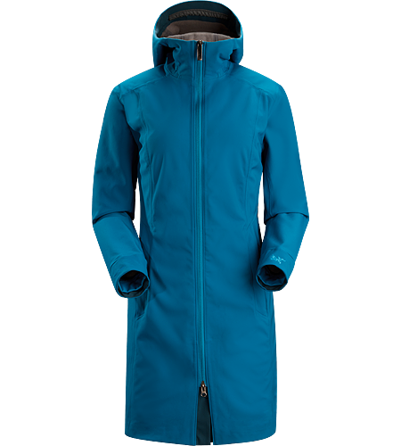 Eyso Jacket Women's Windproof, moisture resistant, three quarter length hooded coat constructed with stretchy WINDSTOPPER textile. Ideal for use from resort to town