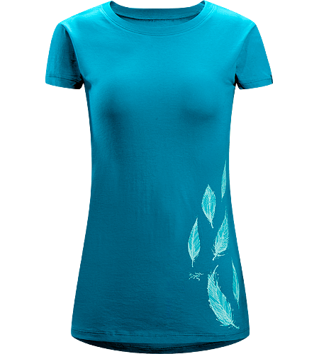 Falling Feathers T-Shirt Women's 100% Cotton, short sleeved T-shirt with illustrated graphic