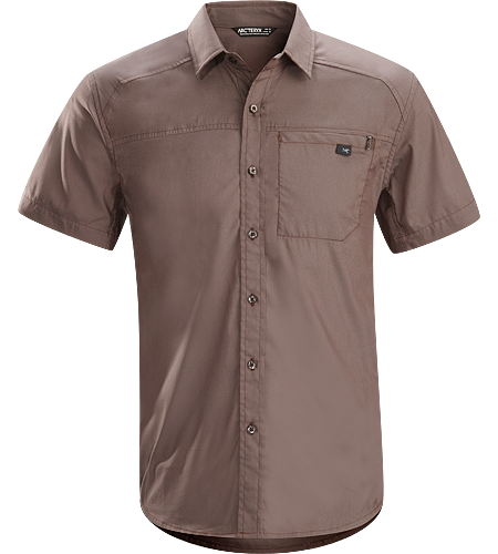 Frontera Chemise MC Homme Chemise lgre,  manches courtes et  col, fabrique dans un textile en coton respirant, idale pour voyager dans une varit de climats et de conditions mto.