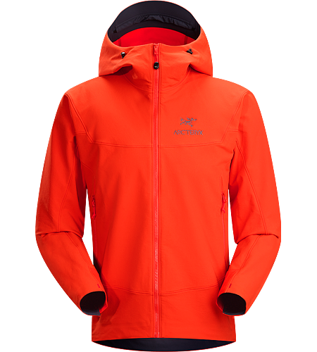 Gamma LT Hoody Men's Durable and breathable, wind and moisture resistant softshell hooded jacket for everyday use. Ideal for active outdoor use.