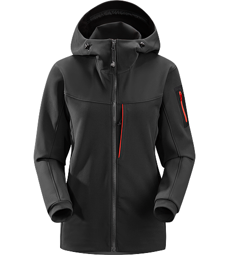 Gamma MX Hoody Women's Breathable, wind-resistant, lightly insulated hooded jacket constructed with Fortius 2.0 textile for increased comfort and mobility