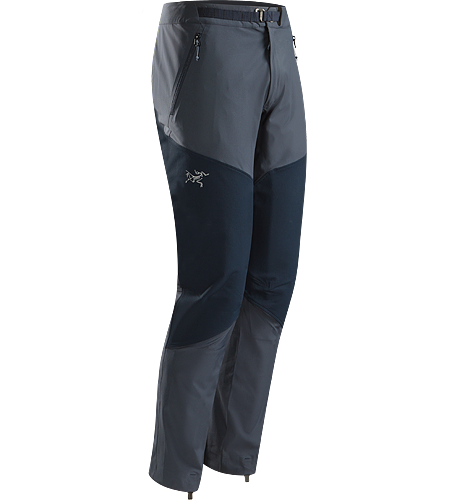 Gamma Rock Pant Men's Lightweight, breathable, technical alpine pant constructed with two weights of stretchy yet durable textile that provide enhanced abrasion resistence and mobility.