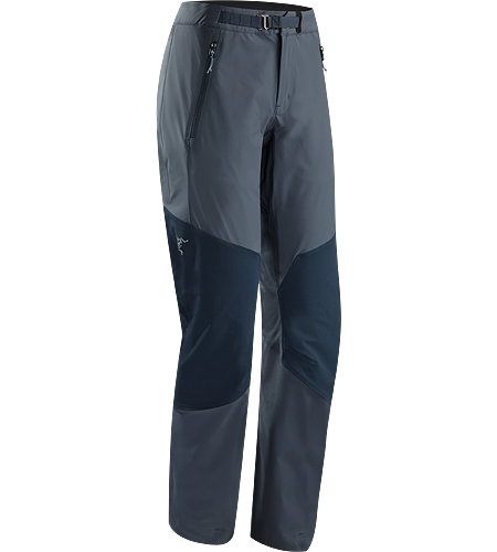 Gamma Rock Pant Women's Lightweight, breathable, technical alpine pant constructed with two weights of stretchy yet durable textile that provide enhanced abrasion resistence and mobility.