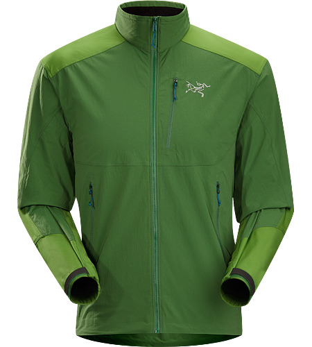 Gamma SL Hybrid Jacket Men's Lightweight, durable wind and moisture resistant jacket constructed using two weights of softshell textile for enhanced mobility and breathability.