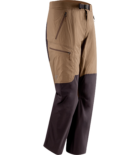 Gamma SL Hybrid Pant Men's Lightweight, durable wind and moisture resistant pants constructed using two weights of softshell textile for enhanced mobility and breathability.