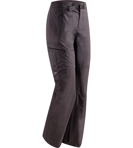 Gamma SL Hybrid Pant Women's Lightweight, durable wind and moisture resistant pants constructed using two weights of softshell textile for enhanced mobility and breathability.