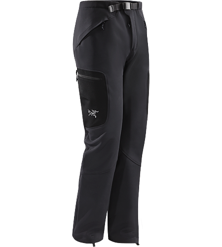 Gamma SV Pant Men's Breathable, insulated soft shell pants with adjustable cuff closures designed to work with alpine climbing boots for highly active winter pursuits.