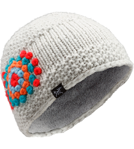 Hepcat Hat Women's Wool/acrylic blend toque with a fleece underband, and a distinctive flower design
