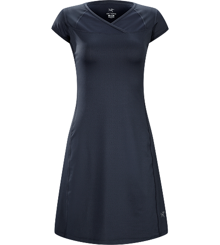 Kapta Dress Women's Lightweight, moisture-wicking, capped-sleeve dress constructed with a combination of textiles for enhanced performance over a range of warm-weather activities