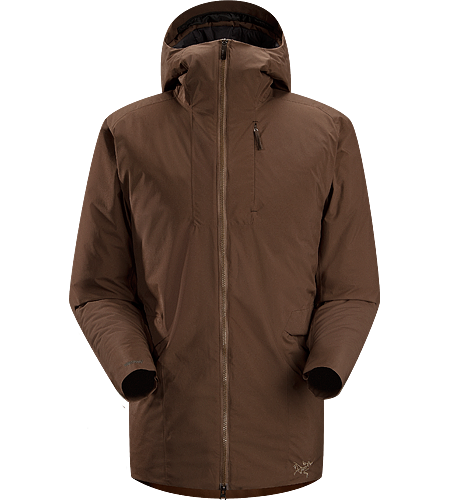 Khuno Parka Men's Newly redesigned with enhanced WINDSTOPPER® fabric with a softer face and a refined fit. Long length insulated casual coat constructed with WINDSTOPPER® fabric paired with Coreloft™ insulation. Ideal for every day, cold weather use.
