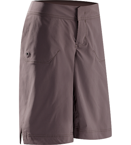 Mischief Long Women's Athletic fit shorts with a refined, stylish aesthetic, constructed with a stretchy, technical textile that is soft to the touch with a smooth hand, quick-drying and easy to care for. Bar tacked details and creative stitching add visual elements to these classic shorts.