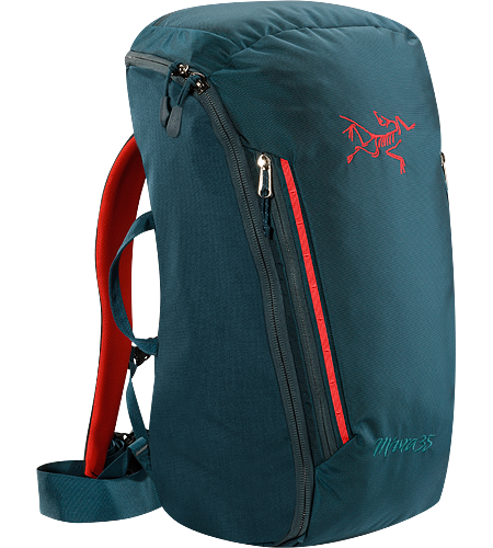 Miura 35 Ein Kletterrucksack mit einem Volumen von 35Litern zum Haulen der Ausrstung. Voll gepolstert, bietet er strukturellen Halt, wobei der durchgehende Reiverschluss die Entnahme und das Umpacken erleichtert.
