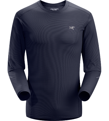 Motus Crew LS Men's Moisture-wicking, quick-drying, long-sleeve shirt constructed using Phasic™ technology textile; ideal for a wide range of high-output activities.