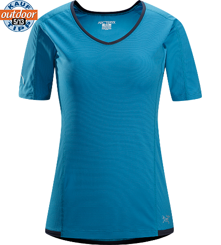 Motus Crew SS Women's Relaxed fit, short-sleeved, crew neck shirt constructed using Phasic Technology textile;  Ideal for high-output, stop-and-go activities.